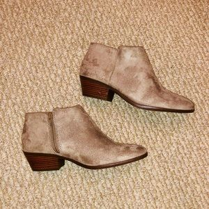 Faux Suede Taupe Ankle Booties BRAND NEW!